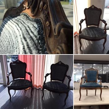 Modernisation de deux fauteuils cabriolets par votre artisan tapissier (22)