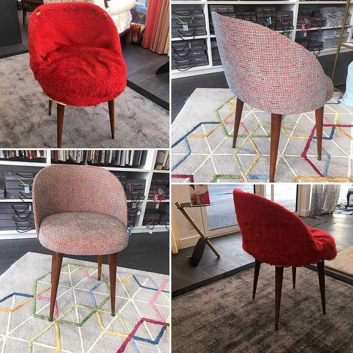 Modernisation d''un fauteuil par un changement de tissu pour l''assise : Votre artisan tapissier décorateur 0